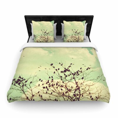 Sylvia Coomes Birds of a Feather Woven Duvet Cover Size: Full/Queen