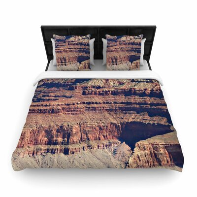 Sylvia Coomes Grand Canyon Landscape 1 Woven Duvet Cover Size: King