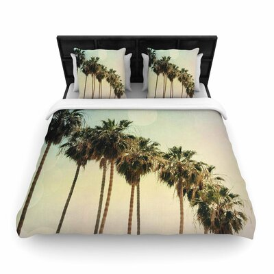 Sylvia Coomes Palm Trees Coastal Photography Woven Duvet Cover Size: King