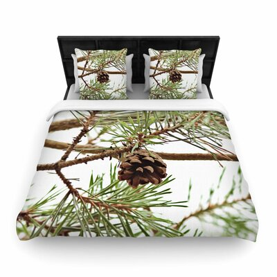 Sylvia Coomes Pinecone Woven Duvet Cover Size: Full/Queen