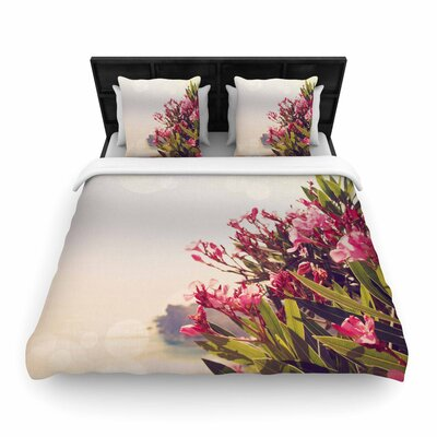 Sylvia Coomes Flowers in Paradise Woven Duvet Cover Size: Twin