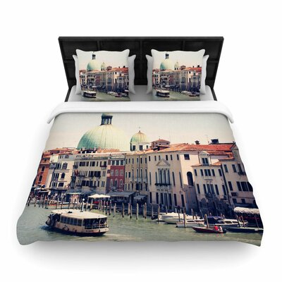 Sylvia Coomes Venice 3 Woven Duvet Cover Size: King