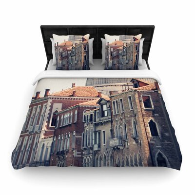 Sylvia Coomes Venice 5 Travel Vintage Woven Duvet Cover Size: King