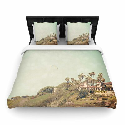Sylvia Coomes West Coast 1 Coastal Photography Woven Duvet Cover Size: King