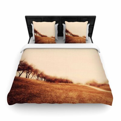 Sylvia Coomes Minimalist Autumn Landscape Woven Duvet Cover Size: Full/Queen