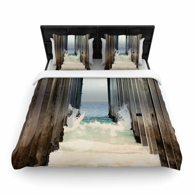 Sylvia Coomes under the Pier Woven Duvet Cover Size: Twin