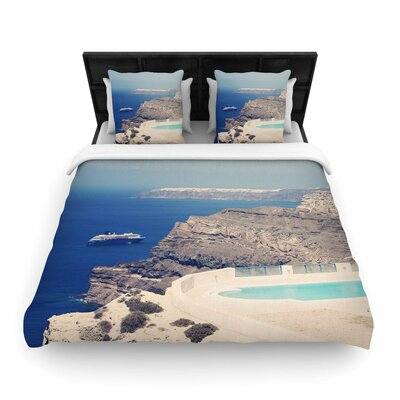 Sylvia Coomes Greek Paradise Woven Duvet Cover Size: King