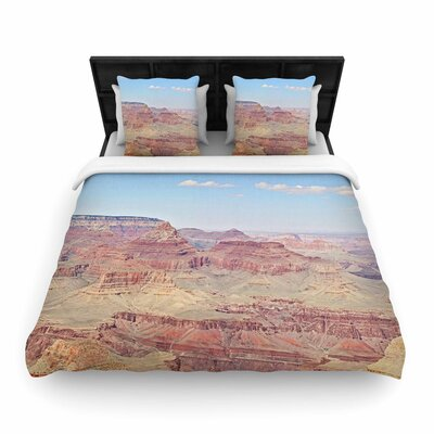 Sylvia Coomes Grand Canyon Panoramic Nature Travel Woven Duvet Cover Size: King