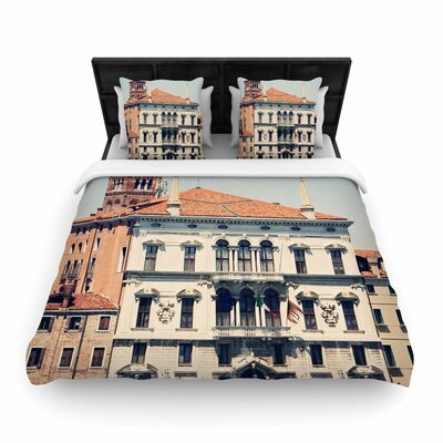 Sylvia Coomes Venice 6 Travel Coastal Woven Duvet Cover Size: King