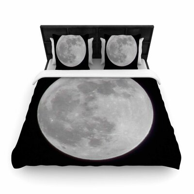 Sylvia Coomes the Moon Woven Duvet Cover Size: Twin