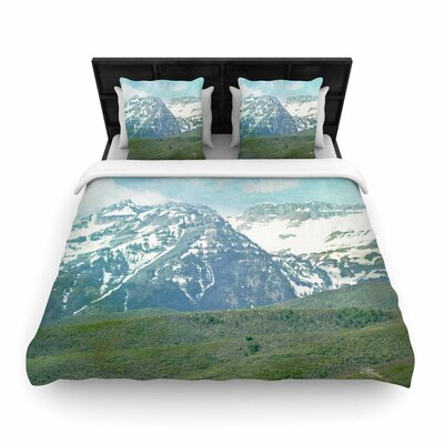 Sylvia Coomes Mountains Nature Woven Duvet Cover Size: King