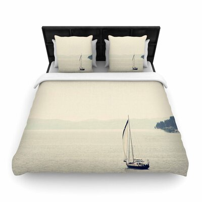 Sylvia Coomes Hazy Sea Travel Woven Duvet Cover Size: King