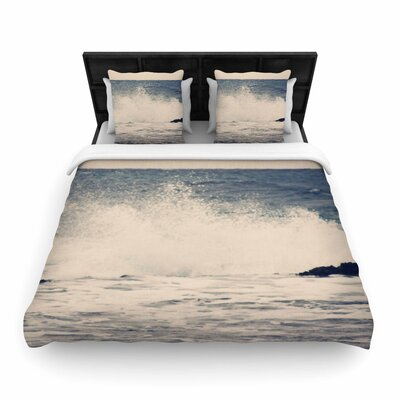Sylvia Coomes Crashing Waves 2 Costal Woven Duvet Cover Size: King