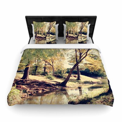 Sylvia Coomes Walk in the Park Photography Woven Duvet Cover Size: King