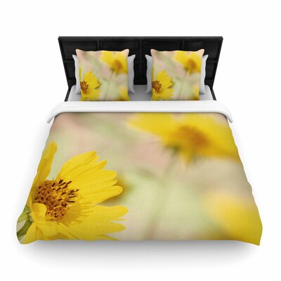 Sylvia Coomes Abstract Flowers Photography Woven Duvet Cover Size: Full/Queen