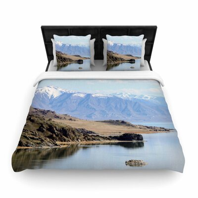 Sylvia Coomes Mountain Reflection Nature Woven Duvet Cover Size: Full/Queen