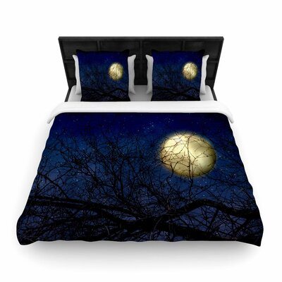 Sylvia Coomes Moon Celestial Woven Duvet Cover Size: Twin
