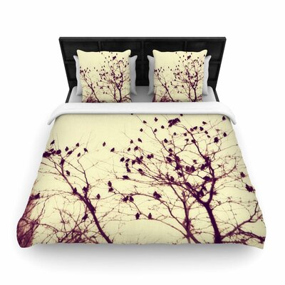 Sylvia Coomes Darkness into Light Nature Woven Duvet Cover Size: Full/Queen