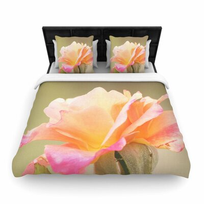 Sylvia Coomes Rose in Full Bloom Floral Woven Duvet Cover Size: King