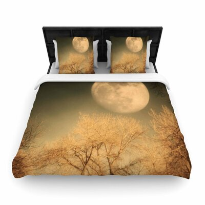 Sylvia Coomes Full Moon Nature Woven Duvet Cover Size: Twin