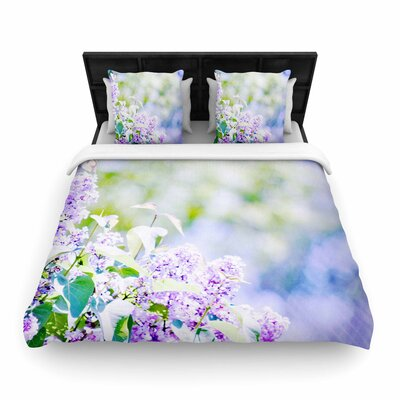 Sylvia Coomes Hazy Flowers Nature Woven Duvet Cover Size: Full/Queen