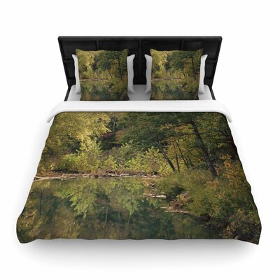 Sylvia Coomes in the Woods 3 Photography Woven Duvet Cover Size: King