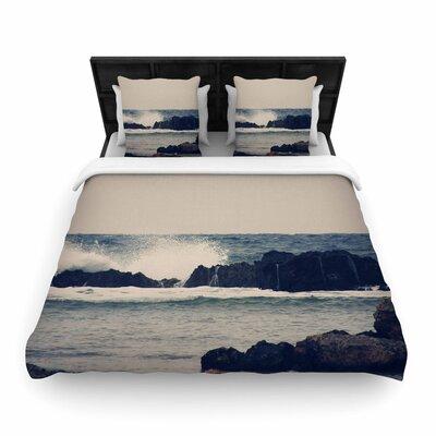 Sylvia Coomes Ocean 2 Coastal Woven Duvet Cover Size: Twin