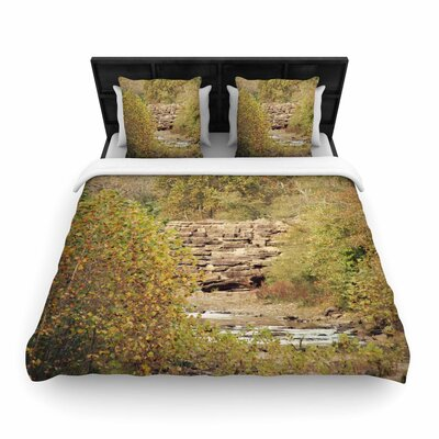 Sylvia Coomes in the Woods 4 Nature Woven Duvet Cover Size: King