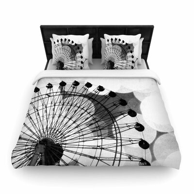 Sylvia Coomes and Ferris Wheel Woven Duvet Cover Size: Twin