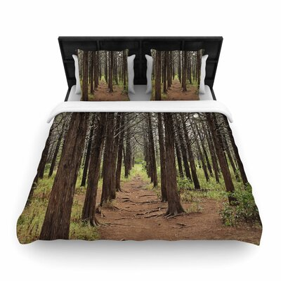 Sylvia Coomes Parallel Forest Photography Woven Duvet Cover Size: Twin