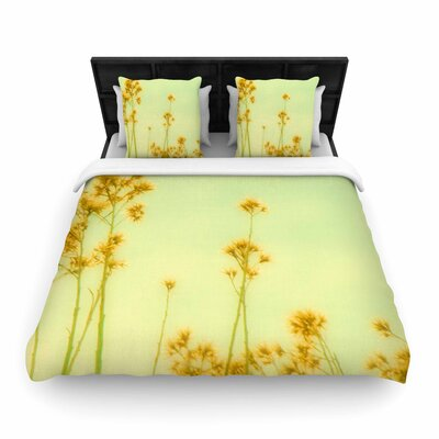 Sylvia Coomes Abstract Wild Flowers Woven Duvet Cover Size: Twin