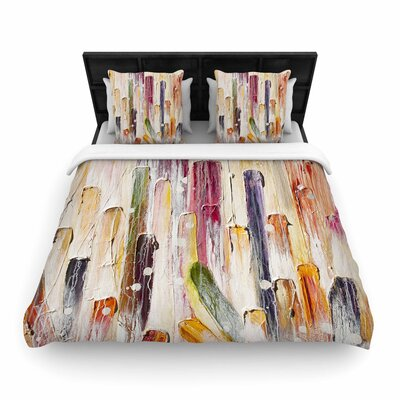 Steven Dix Candy Icing Woven Duvet Cover Size: Full/Queen