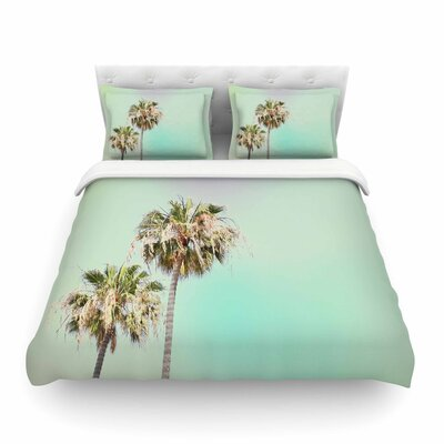 Sylvia Coomes Palm Trees Photography Featherweight Duvet Cover Size: King