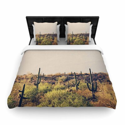 Sylvia Coomes Desert Landscape 5 Photography Woven Duvet Cover Size: Twin