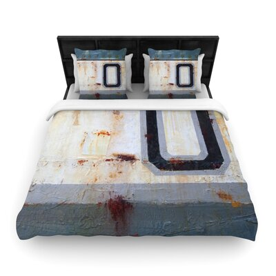 Steve Dix Decommissioned Woven Duvet Cover Size: King