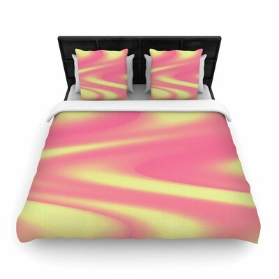 Sylvia Coomes Sherbert Swirl Woven Duvet Cover Size: Twin