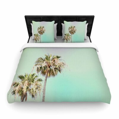 Sylvia Coomes Palm Trees Photography Woven Duvet Cover Size: Twin