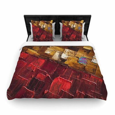 Steven Dix Movement Beneath Woven Duvet Cover Size: King