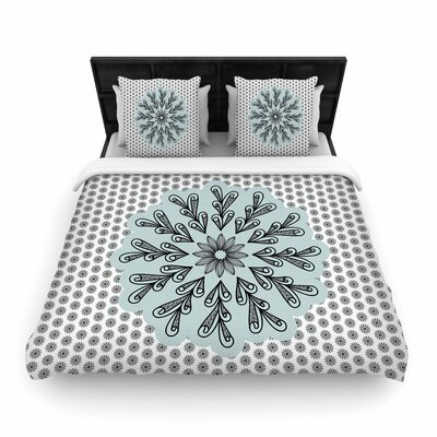 Shirlei Patricia Muniz My Flower Abstract Woven Duvet Cover Size: Full/Queen