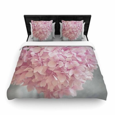 Suzanne Harford Hydrangea Flowers Floral Woven Duvet Cover Size: Twin