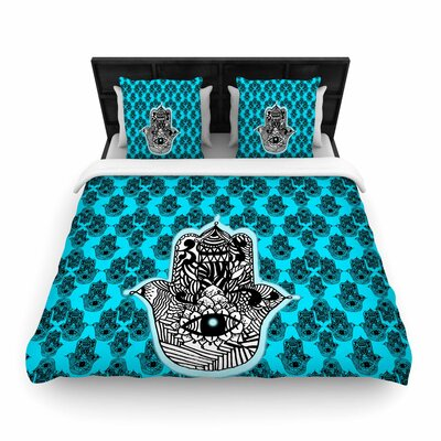 Shirlei Patricia Muniz the Eye llustration Woven Duvet Cover Size: Full/Queen