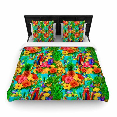 Shirlei Patricia Muniz Tropical Style Nature Woven Duvet Cover Size: King
