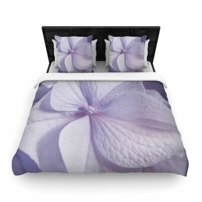 Suzanne Harford Hydrangea Flower Floral Woven Duvet Cover Size: King