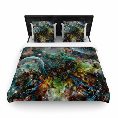 Shirlei Patricia Muniz Space Abstract Woven Duvet Cover Size: King