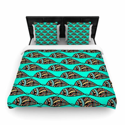 Shirlei Patricia Muniz Fisherman of Illusions Illustration Woven Duvet Cover