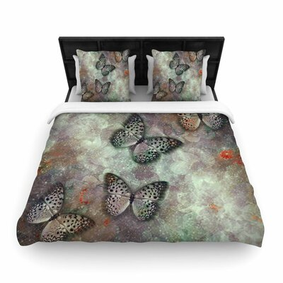 Shirlei Patricia Muniz World of Butterflies Digital Woven Duvet Cover Size: Full/Queen