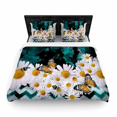 Shirlei Patricia Muniz Secret Garden Floral Woven Duvet Cover Size: Full/Queen