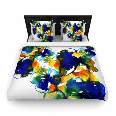 Sonal Nathwani Floral Abstract Woven Duvet Cover Size: Twin