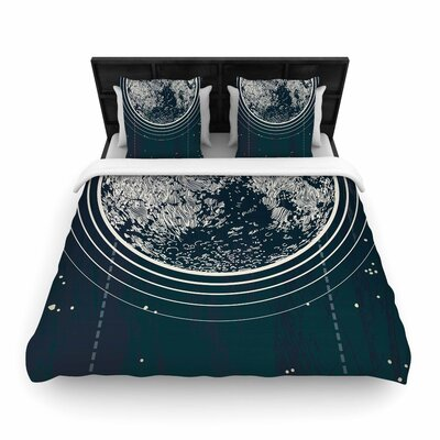 Sam Posnick We Are Without Limits Typography Woven Duvet Cover Size: Twin