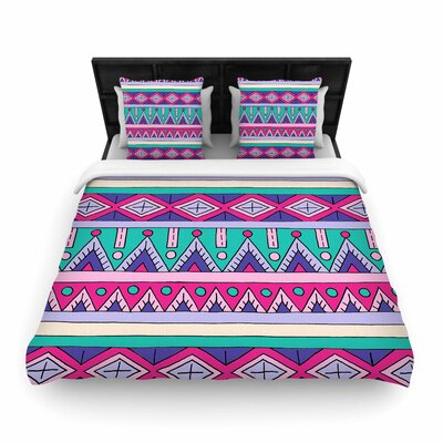 Sarah Oelerich Tribal Woven Duvet Cover Size: King